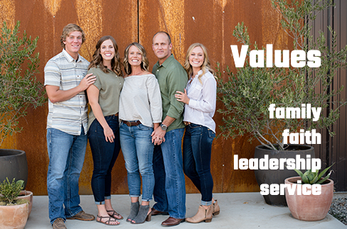 Values family faith leadership service